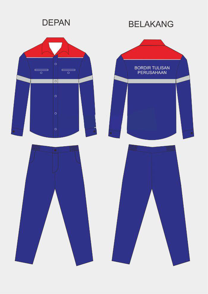 Desain seragam kerja lengan panjang