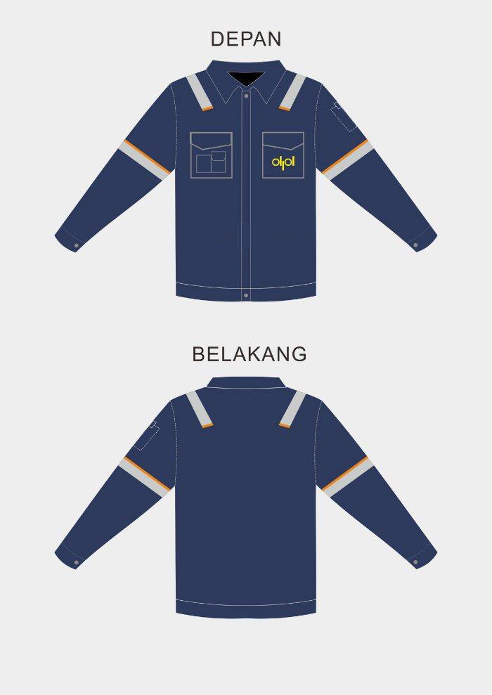 desain seragam kerja PT DPL